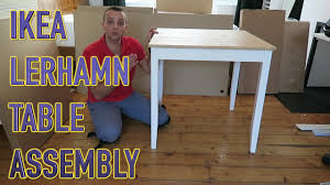 Strandmon Wing Chair Assembly by Ikea Table Lerhamn Assembly Youtube