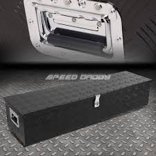 100 Black Truck Box 49X13X10 BLACK ALUMINUM PICKUP TRUCK TRUNK BED TOOL BOX TRAILER