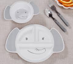 Shaped Elephant Plate & Bowl