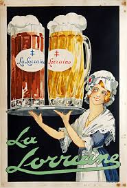 La Lorraine French Vintage Beer Poster