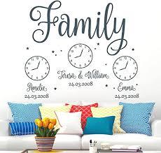 wandtattoo wohnzimmer schriftzug family personalisiert mit