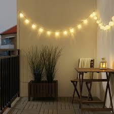 solarvet lichterkette 24 led für draußen solarbetrieben kugel weiß