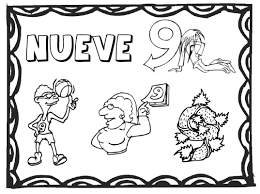 Free Numbers To Coloring Superb Spanish Pages