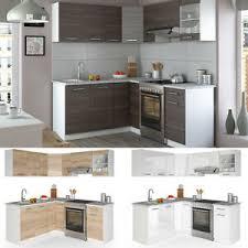 details zu vicco küche rick l form küchenzeile küchenblock einbauküche 190 cm farbauswahl