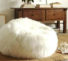 White Fluffy Bean Bag Chair Faux Fur Chairs For Adults