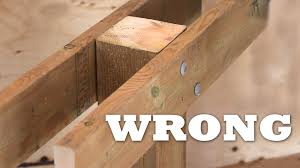 Distance Between Floor Joists On A Deck by How To Attach A Beam To A Post For A Deck Youtube