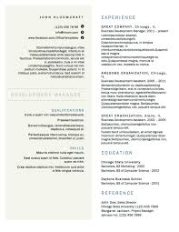 Two Column Resume Template A Minimalist Option With Columns 2 Word