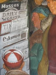 Coit Tower Murals Diego Rivera by Diego Rivera Glancing Blows