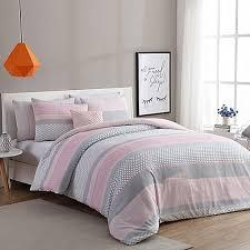 VCNY Home Stockholm forter Set in Pink Grey Bed Bath & Beyond
