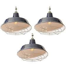 lighting glossy navy blue industrial pendant light fixture with