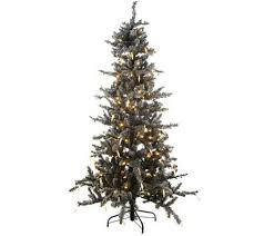 75 Flocked Christmas Tree by 6 5 U0027 Flock Frosted Fir Christmas Tree With Icicles U0026 5 Year Lmw
