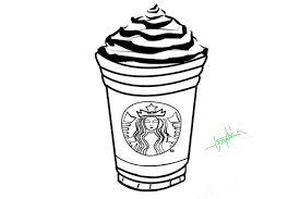 Starbucks Outline By Lylisima