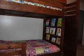 Ana White Headboard Full by Ana White Bunkbed With Bookshelves Stairs And Storage Bins