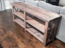 Enchanting X Console Table With Johnson Rustic