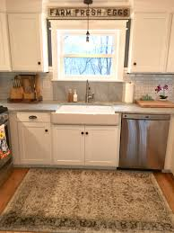 Self Trimming Apron Front Sink by Kitchen Remodel Adirondack Blue Behr Wall Color Simply White