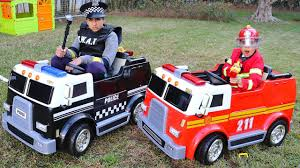 100 Fire Truck Halloween Costume Children Play With Fire Truck And Police Truck Funny Videos For