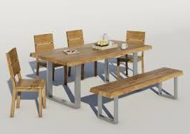 elfo baumkantentisch in wildeiche geölt 2 größen sehr rustikal gestell chrom oder edelstahlfarben esstisch für esszimmer oder wohnzimmer