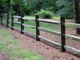 Wood Split Rail Fence 3