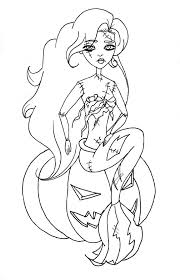 Disney Princess Halloween Coloring Page For Pages
