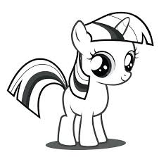Twilight Sparkle Coloring Page My Little Pony Pages