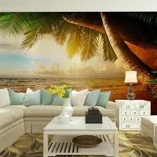 chambre arbre salon chambre tv mur papiers 3d nature tropical palm arbre