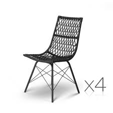 Details About Artiss Set Of 4 PE Wicker Dining Chair - Black Lotta Ding Chair Black Set Of 2 Source Contract Chloe Alinum Wicker Lilo Chairblack Rattan Chairs Uk Design Ideas Nairobi Woven Side Or Natural Flight Stream Pe Outdoor Modern Hampton Bay Mix And Match Brown Stackable