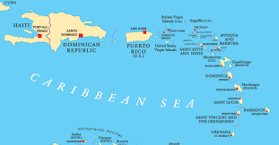 Close Up Vector Map Of Caribbean Ports Most Deeply Affected By Hurricane Irma