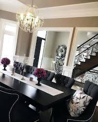 Black And White Dining Room Monochromatic Grey Scale Furniture Decorating Ideas
