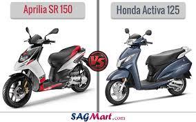 Aprila SR150 VS Activa 125