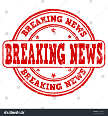 Breaking News Grunge Rubber Stamp On White Vector Illustration