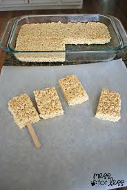 Rice Krispie Treats Halloween Shapes by Rice Krispies Treat Pops Mess For Less