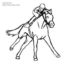 Race Horse Coloring Pages 8 Galloping Racehorse Page