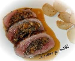 recette de magret de canard automnale farcit aux noisettes