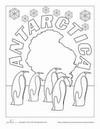 First Grade Holidays Seasons Worksheets Antarctica Coloring Page