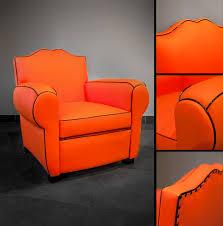 recouvrir un fauteuil club christiandugoua club retro orange 60 s