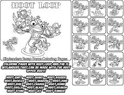 Printable Coloring Page For Kids With Skylanders Swap Force HOOT LOOP And All The Different Skylander