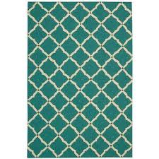 Teal 5 X 8 Outdoor Rugs Rugs The Home Depot