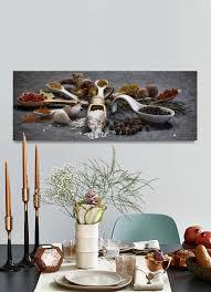 wandbild 80x30cm alu dibond gewürze kräuter küche küchenbild