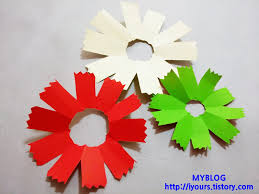 Paper Cutting Flower Making