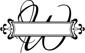 Split Fancy Letter Vinyl Monogram