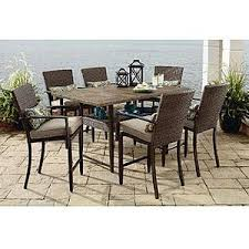 Grand Resort Patio Furniture by Grand Resort River Oak 7pc High Dining Outdoor Living Polyvore