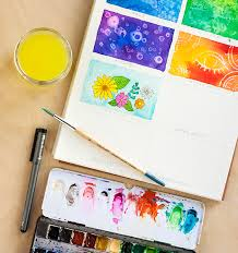 TOOLBOX 8 Watercolor Techniques For Beginners Tutorial Diycraftchallenge