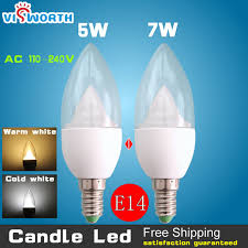 new e14 led candle light 5w 7w led light smd5730 led ac 220v 240v