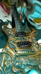 Mcswain Flooring Blue Ash by Hand Carved Guitar Warlock Bc Rich Javara Handmade Guitar B C