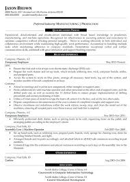 Sample Manufacturing Resume Operations Examples Professional Writers For Plant Manager