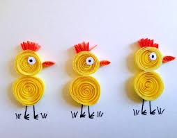 VIEW IN GALLERY Quilled Chicks