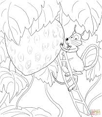 Click The Little Mouse Red Ripe Strawberry And Big Hungry Bear Coloring Pages