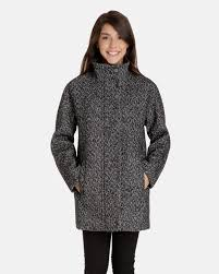 cleo wool cocoon jacket with stand collar for women london fog