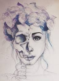 Love Drawing Illustration Death Skulls Art Girls Girl Rock Hipster Vintage Indie Grunge Draw Artist Artists