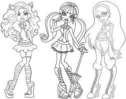 Gallery Of Free Printable Coloring Pages For Girls Monster High 34 In Books With